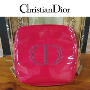 Dior   Candy Apple Red Make-up Brush Case